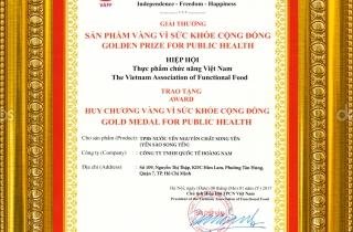 Song Yến vinh dự nhận giải thưởng 'Sản phẩm vàng vì sức khỏe cộng đồng'
