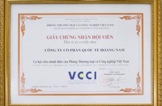 Công Ty Cổ Phần Quốc Tế Hoàng Nam trở thành hội viên chính thức của VCCI