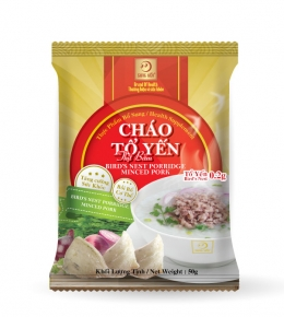 Bird's nest porridge packet with minced pork